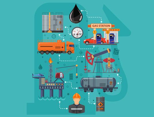 وکتور مفهومی فرایند فرآورده های نفتی