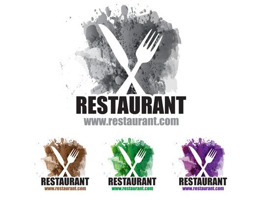 وکتور جذاب لوگوی رستوران