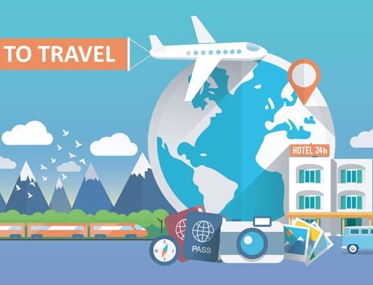 وکتور مفهومی گردشگری و سفر