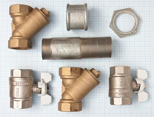 عکس انواع اتصالات لوله آب آهنی