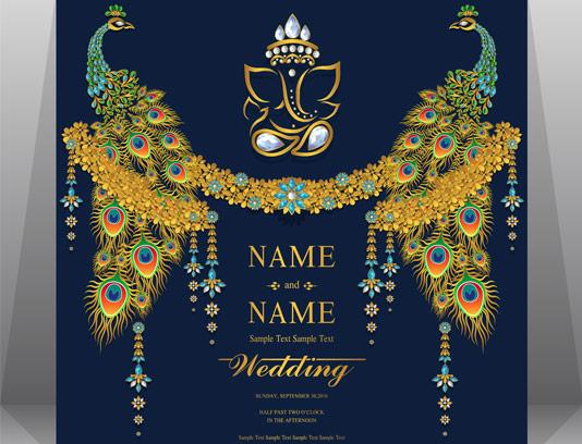 وکتور کارت دعوت عروسی خلاقانه