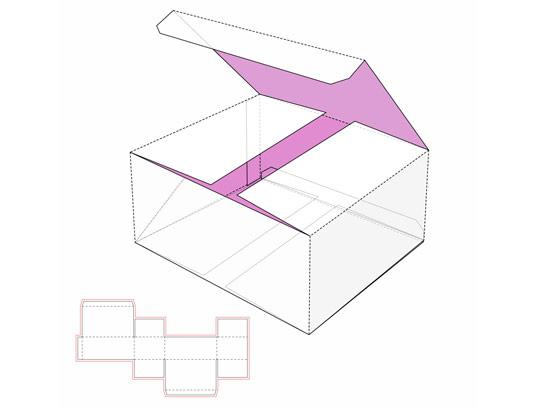 وکتور طرح گسترده جعبه مستطیلی