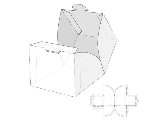 وکتور طرح گسترده پاکت بسته بندی