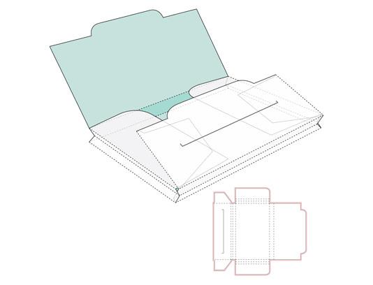 وکتور طرح گسترده بسته بندی پاکت