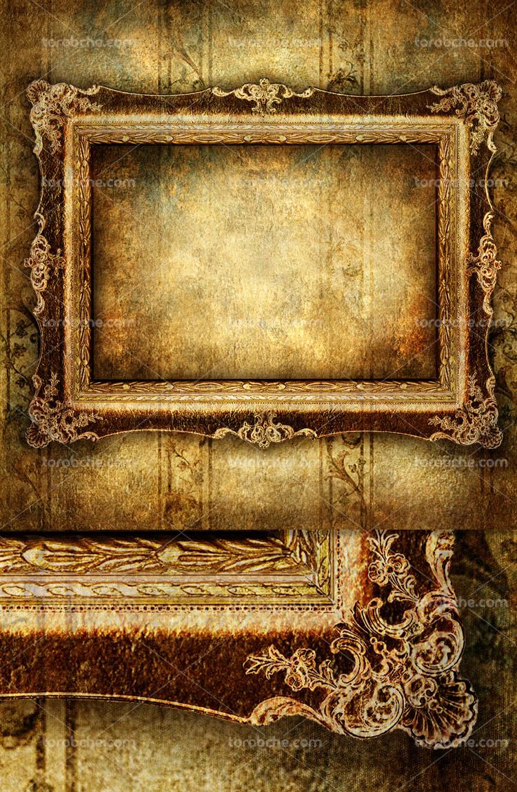 عکس با کیفیت قاب عکس چوبی قدیمی
