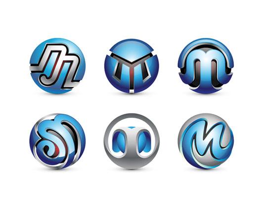 وکتور لوگوهای انتزاعی حرف M