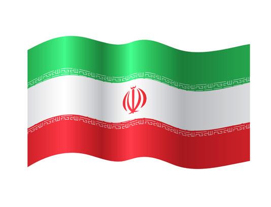 وکتور پرچم زیبای ایران