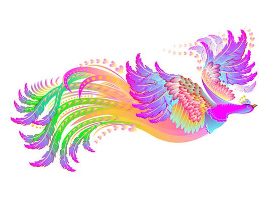 وکتور پرنده سیمرغ انتزاعی