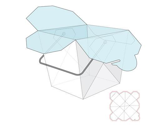 وکتور صفحه گسترده بسته بندی سطل