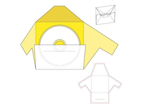 وکتور صفحه گسترده پاکت سی دی