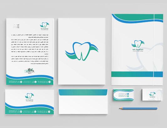 طرح لایه باز ست اداری دندان پزشکی
