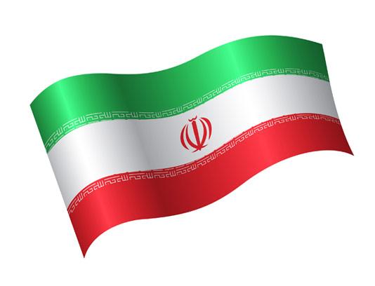 وکتور پرچم ایران در حال اهتزاز