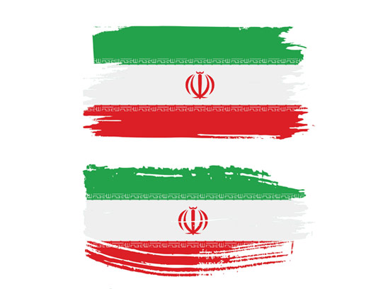 وکتور پرچم ایران به صورت گرانج