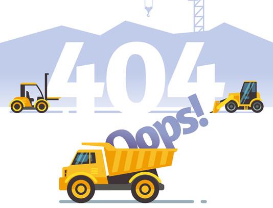 وکتور خطای صفحه 404 خلاقانه