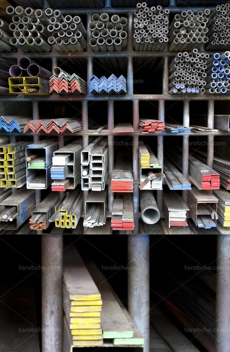 عکس با کیفیت آهن آلات ساختمانی
