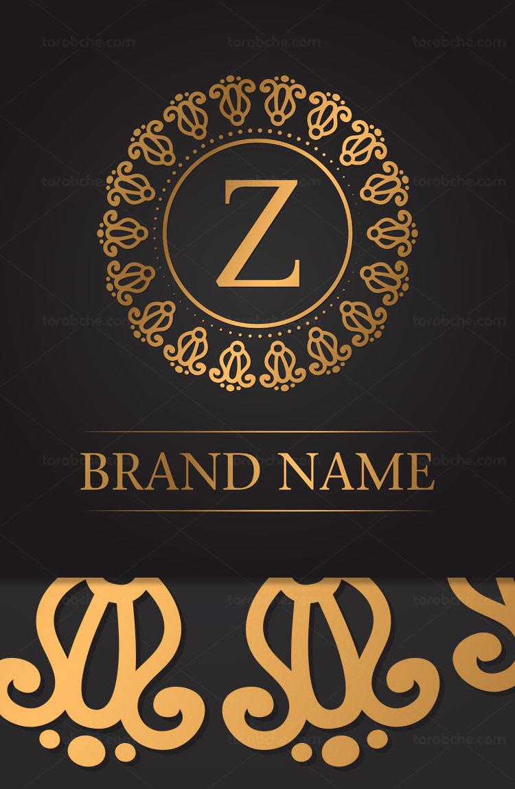 وکتور لوگوی مونوگرام حرف Z