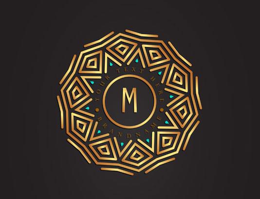 وکتور لوگوی مونوگرام حرف M