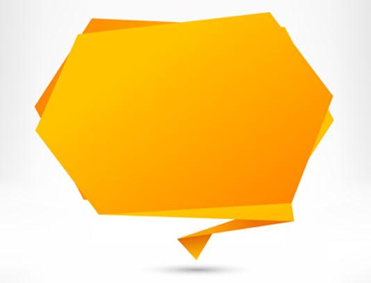 وکتور کادر متنی اوریگامی
