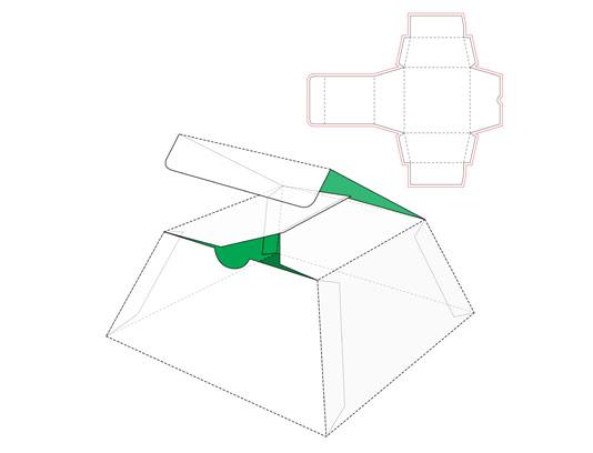 وکتور صفحه گسترده بسته بندی محصولات