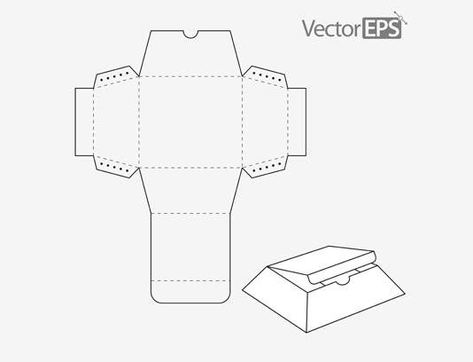 وکتور صفحه گسترده جعبه بسته بندی