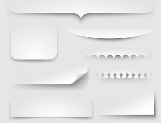 وکتور المان های سایه کاغذ