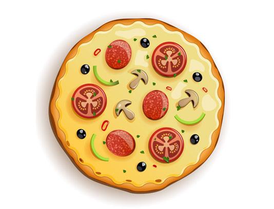 وکتور لوگو پیتزا فست فود