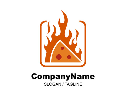 وکتور لوگو پیتزا تند آتشی