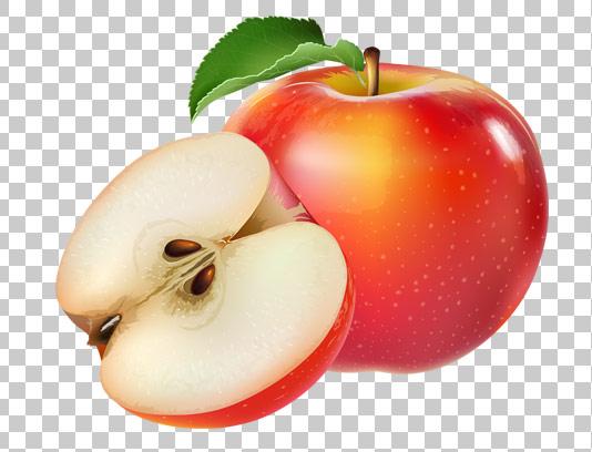 عکس دوربری شده سیب قرمز