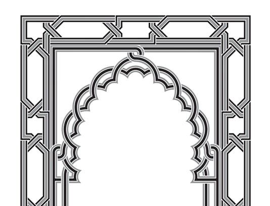 وکتور کادر تذهیب و محراب مسجد