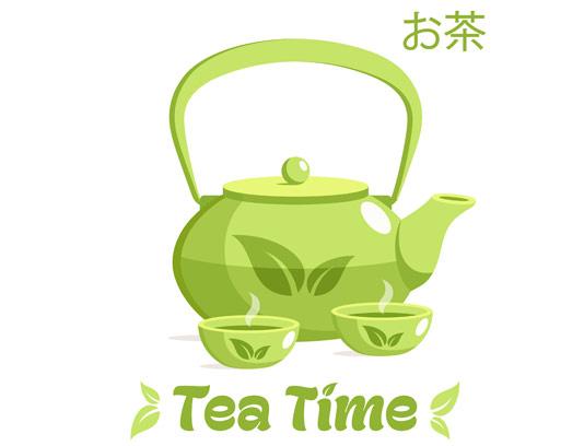 وکتور قوری و فنجان چای