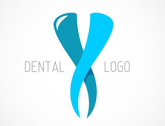 وکتور لوگوی دندان آبی