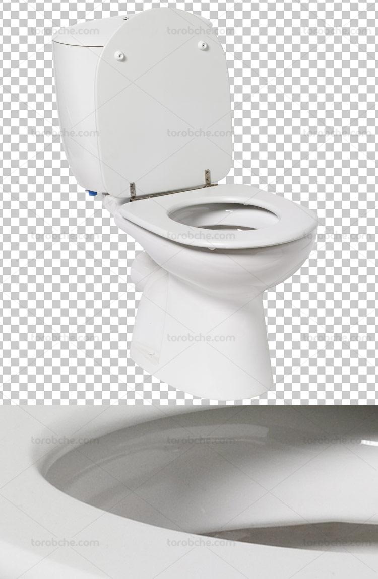 عکس دوربری شده توالت فرنگی