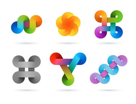 وکتور مجموعه لوگوهای بی نهایت