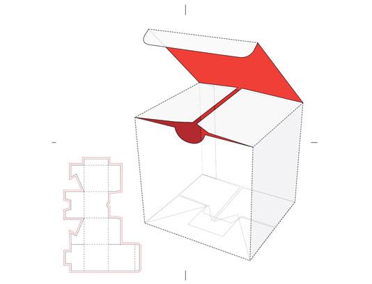 وکتور بسته بندی و طرح گسترده مکعب مربع