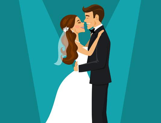 وکتور بکگراند عروس و داماد