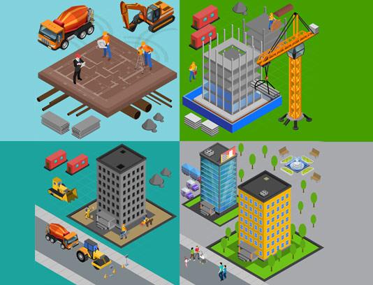 وکتور ساختمان سازی و شهر سازی