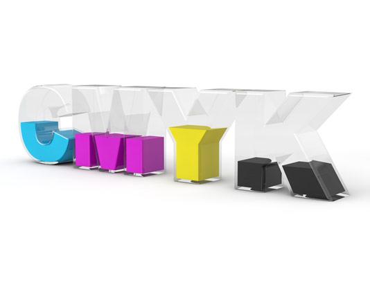 عکس با کیفیت مد رنگی CMYK سه بعدی