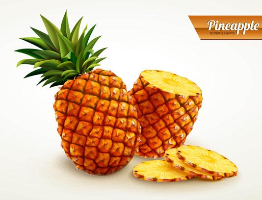 وکتور برش آناناس تازه