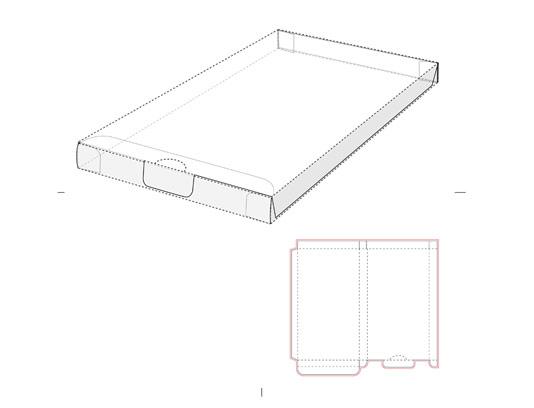 وکتور صفحه گسترده پاکت بسته بندی