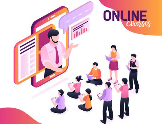 وکتور فلت آموزش آنلاین