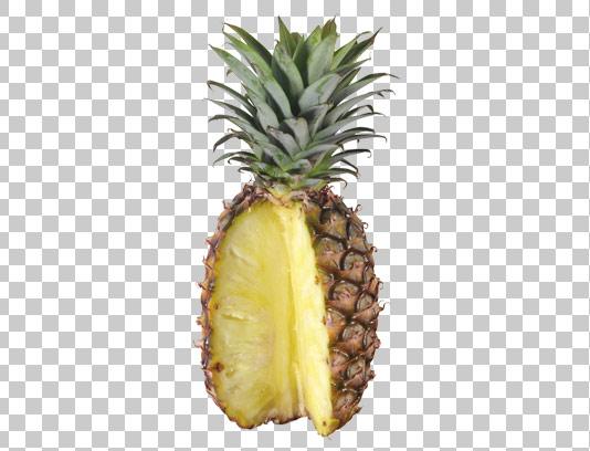 عکس دوربری شده آناناس تازه