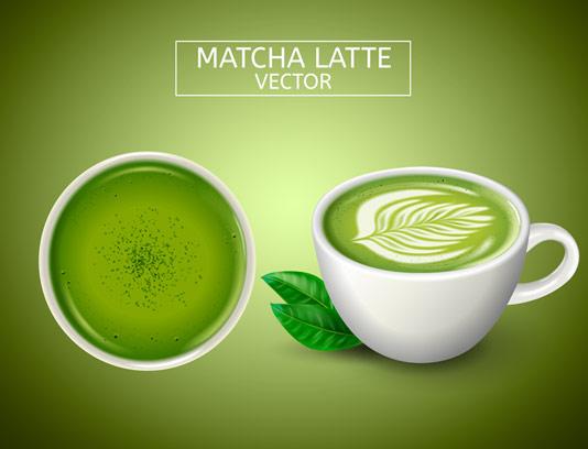 وکتور فنجان قهوه سبز