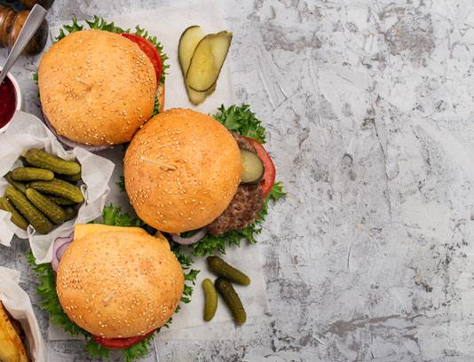 عکس با کیفیت همبرگر با خیارشور