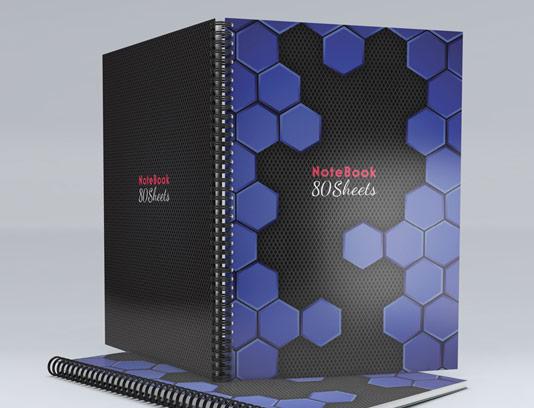 طرح لایه باز جلد دفتر شش ضلعی