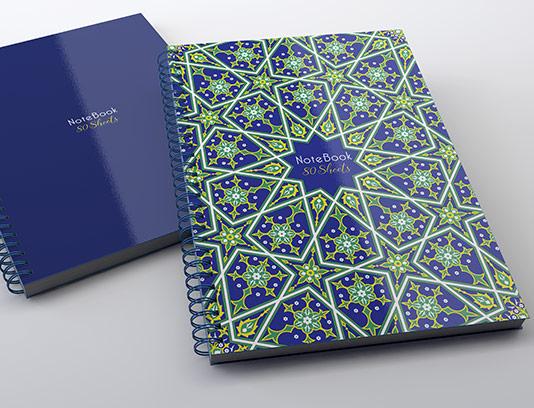 طرح لایه باز جلد دفتر اسلامی ایرانی