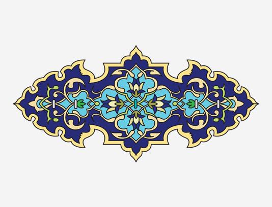 وکتور طرح نماد و المان تذهیب عربی