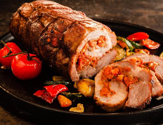 عکس با کیفیت رولت گوشت تابه ای
