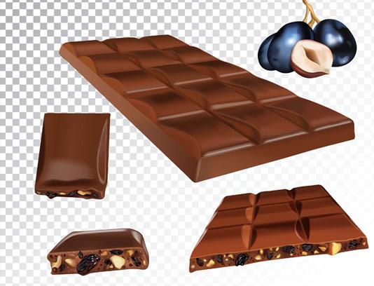وکتور شکلات مغز دار