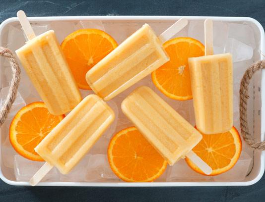 عکس با کیفیت بستنی پرتقال