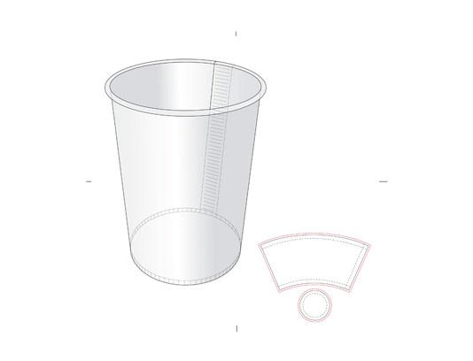 وکتور صفحه گسترده لیوان کاغذی